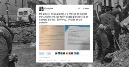 """""""Burlarse"""" por Twitter y acabar en prisión: un año de cárcel para la usuaria que emitió los tweets sobre Carrero Blanco"""