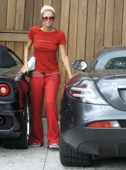 Paris Hilton Mercedes SLR