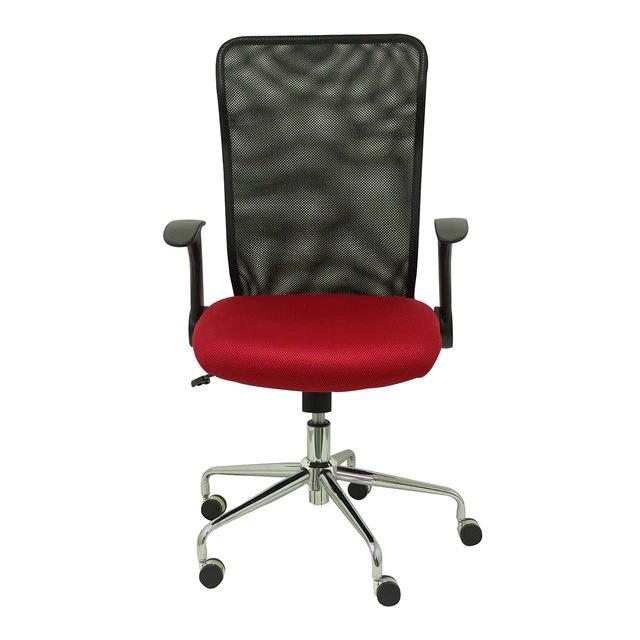 EL CORTE INGLÉS Silla de escritorio tapizada en tela con ruedas y brazos regulables Minaya