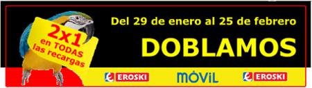 Promoción Eroski móvil: 9 cént/minuto sin establecimiento
