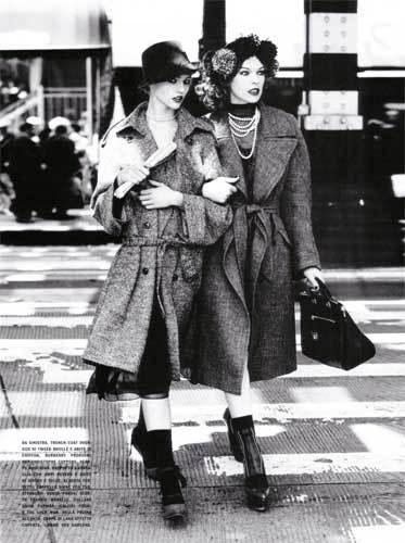 Sasha Pivovarova y Milla Jovovich en Vogue Italia