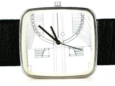 Relojes diseñados con planos arquitectónicos