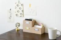Pequeñas cajas minimalistas que necesitas para mantener tu escritorio siempre en orden