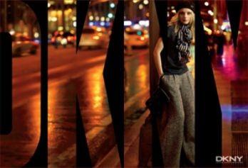 Jessica Stam para DKNY otoño-invierno 2007/08
