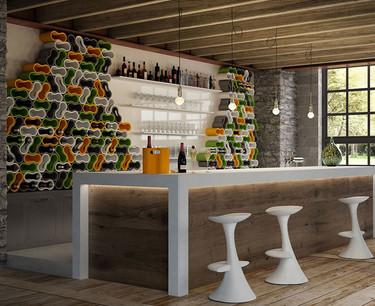 Botellero con el que puedes hacer una cava de pared y decorar tu casa