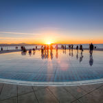 Las noches de Zadar (Croacia) se iluminan con un mágico saludo al sol
