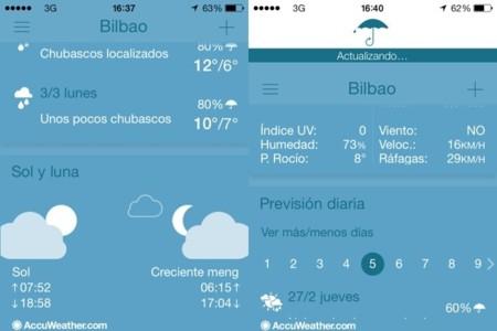 Accuweather una aplicación totalmente rediseñada para iOS 7 y que merece atraer el foco de atención