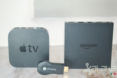 Chromecast, Apple TV, Amazon Fire TV