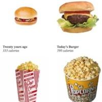 Las porciones de comida cada vez son más grandes