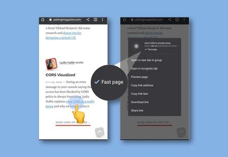 Chrome para Android mostrará una etiqueta de 'página rápida' en aquellas que cumplan con ciertos requisitos