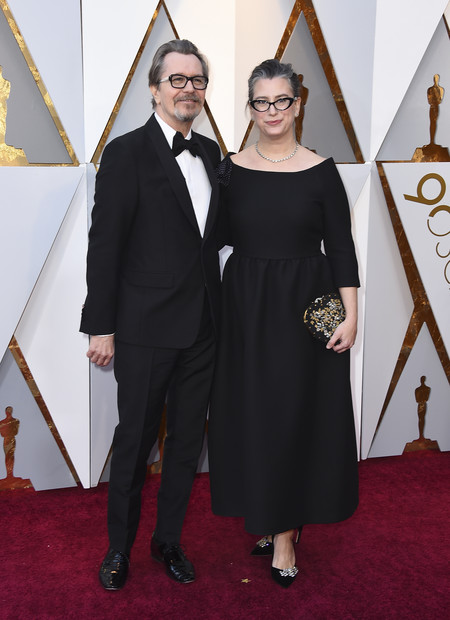 Gary Oldman Left And Gisele Schmidt