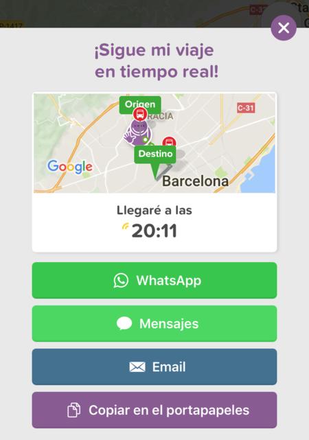 Citymapper Compartir Ruta