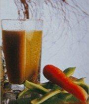Zumo de judías verdes y zanahorias