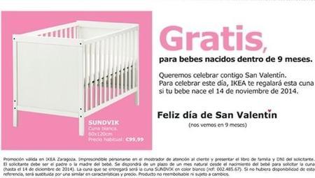 Promoción especial para San Valentín. Ikea y la cuna.