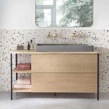 Muebles de lavabo, espejos y luces para renovar tu baño y llenarlo de estilo
