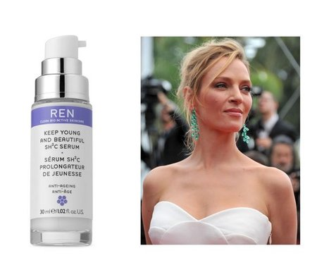 El sérum Keep Young and Beautiful SH2C de REN, el favorito de belleza de Uma Thurman