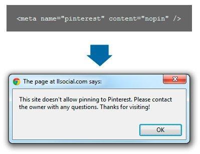 """Pinterest permitirá deshabilitar los """"pins"""" a las páginas que así lo deseen"""