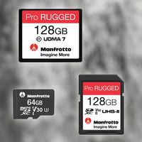 """Manfrotto Pro Rugged, la firma italiana lanza sus tarjetas de memoria """"resistentes a todo"""" en formatos SD, MicroSD y Compact Flash"""