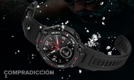 Hoy hasta la medianoche en Amazon tienes el reloj inteligente Amazfit T-Rex con 44 euros de rebaja y por menos de 95 euros