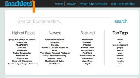 """Marklets, un directorio de bookmarklets que permite ejecutarlos """"a distancia"""""""