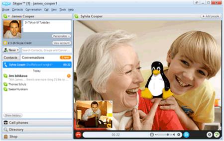 Skype tendrá una interfaz libre y oficial para Linux