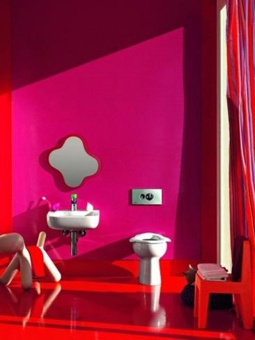 Baños alegres y coloristas para niños, de Laufen