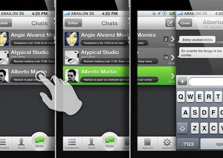 Nuevo WhatsApp gestos