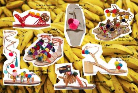PomponesPara De Este Colory Verano Repletas Sandalias HeDIY9W2E