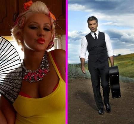 Españolada al canto para Christina Aguilera y Alejandro Fernández