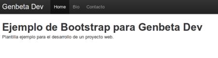 Primer prototipo de la plantilla con Bootstrap