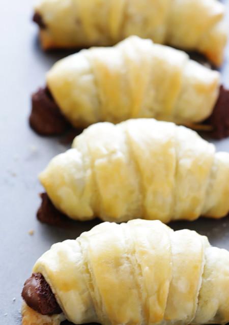 3 Ingredient Nutella Croissants 5