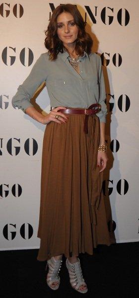 El look de Olivia Palermo en la presentación de Mango Resort 2011