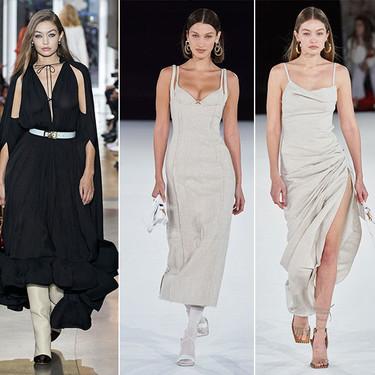 Gigi y Bella Hadid se llevan todas las miradas en los desfiles de moda masculina de Jacquemus y Lanvin en París