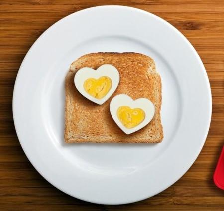 Molde Corazón para Huevos Cocidos