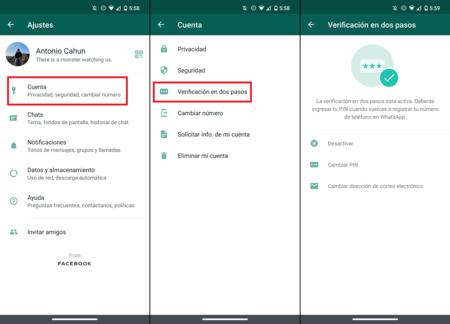 Como Activar Verificacion Autentificacion Dos Pasos Whatsapp