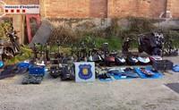 Robaban motos, las desguazaban y enviaban las piezas a Marruecos