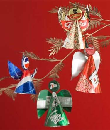 Recicladecoración navideña: para el árbol
