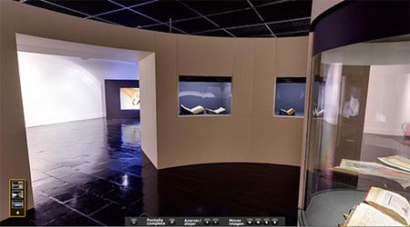 La palabra iluminada, exposición interactiva