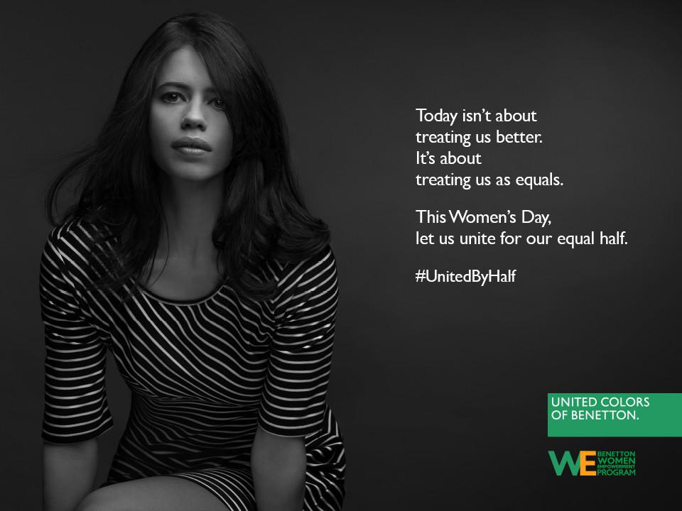 Hoy es Día Internacional de la Mujer y Benetton lucha por la igualdad entre hombres y mujeres