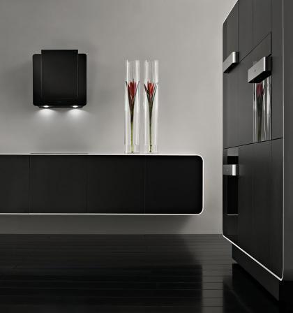 Cocinas en negro y plata