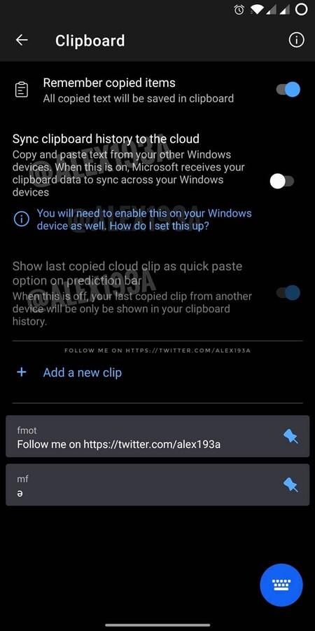 Swiftkey Portapapeles Windows 10