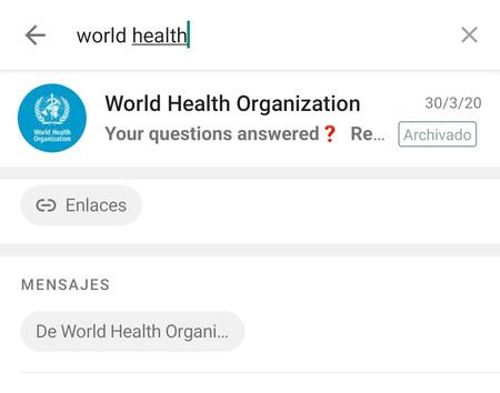 Nueva búsqueda de WhatsApp