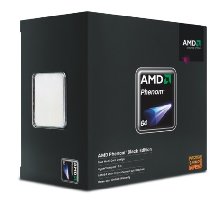 Nuevos AMD Phenom X3 8750 Black Edition, 8450e y 8250e