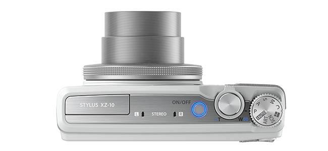 Olympus XZ-10 - blanca - vista delantera