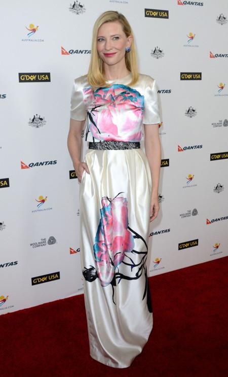 Cate Blanchett en la Black Tie Gala Los Angeles 2014 con un vestido de Prabal Gurung Pre-Fall 2014