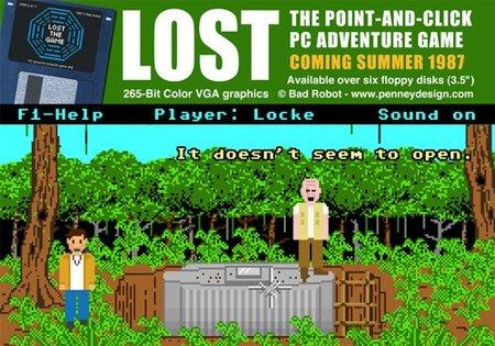Si LucasArts hubiese realizado el videojuego de 'LOST' en los ochenta...