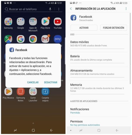 Facebook Desactivar