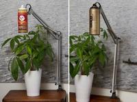 Recicladecoración: lámparas tipo flexo hechas con botes de spray