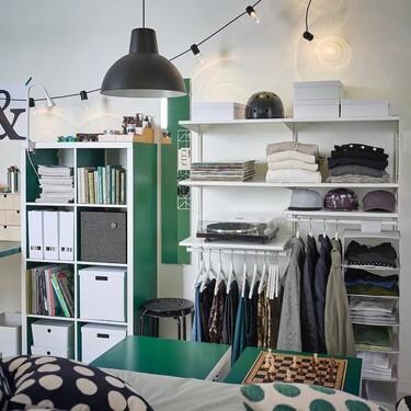 Tres combinaciones de la estantería Boaxel de Ikea para aprovechar mejor el espacio