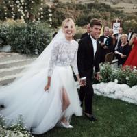 Así es el maravilloso (y clásico) vestido de novia de Chiara Ferragni firmado por Christian Dior el día de su boda con Fedez